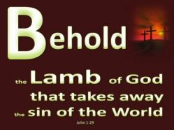 Now behold Lamb