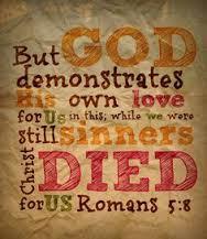 But God demonstrates