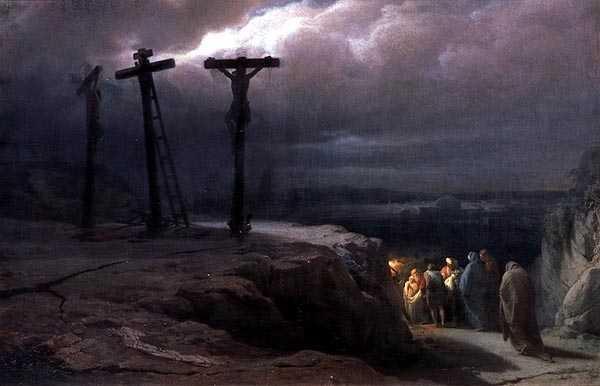 Matthew 27.45a