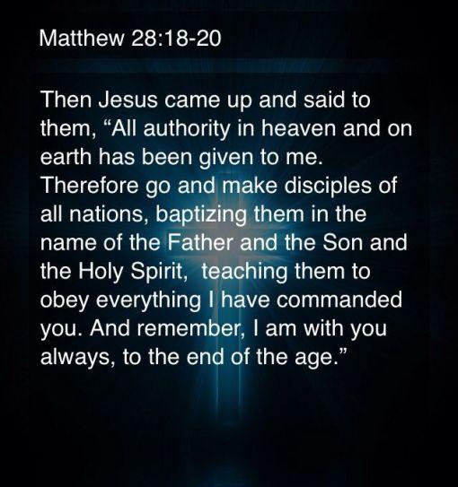 Matthew 28.18