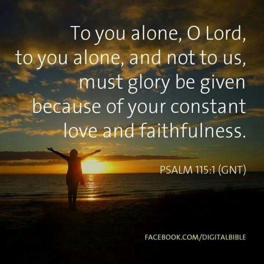 Psalm 115.1