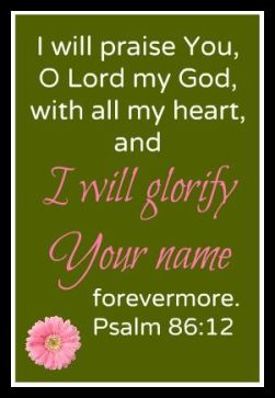 Psalm 86.12A
