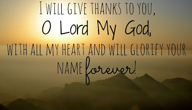Psalm 86.12B