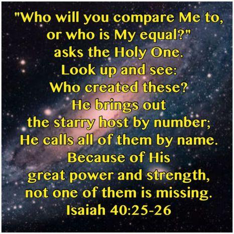 Isaiah 40.25-26