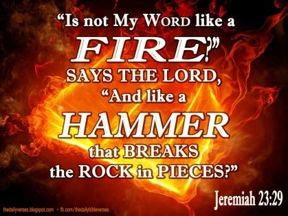 Jeremiah 23.29