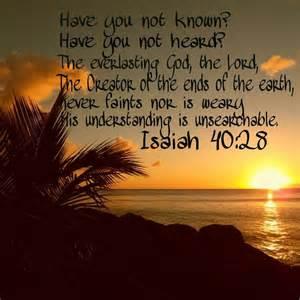 Isaiah 40.28