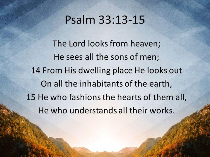 Psalm 33.13-15