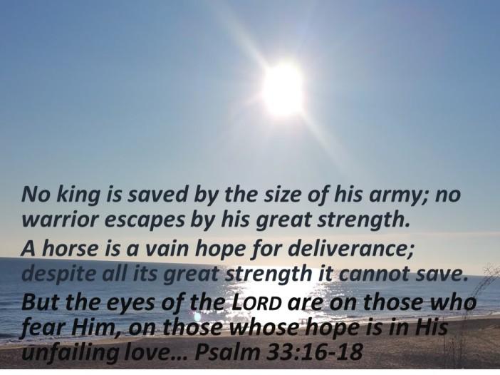 Psalm 33.16-18a