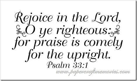 Psalm 33.1a