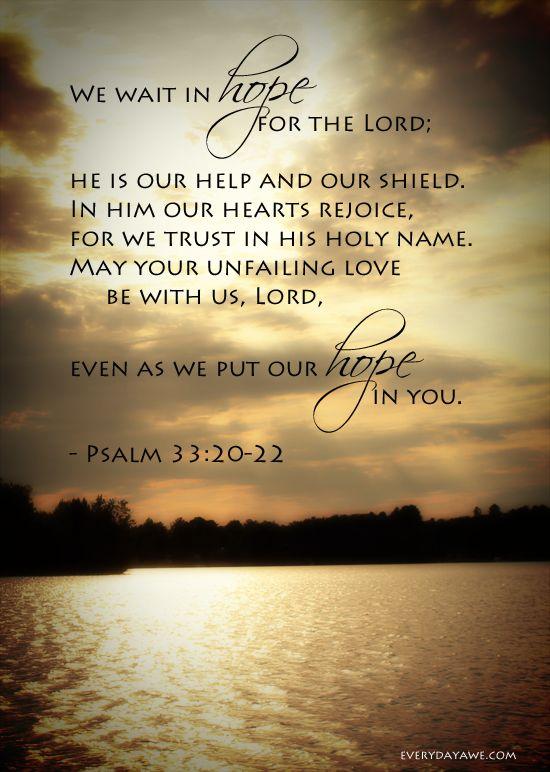 Psalm 33.20-22