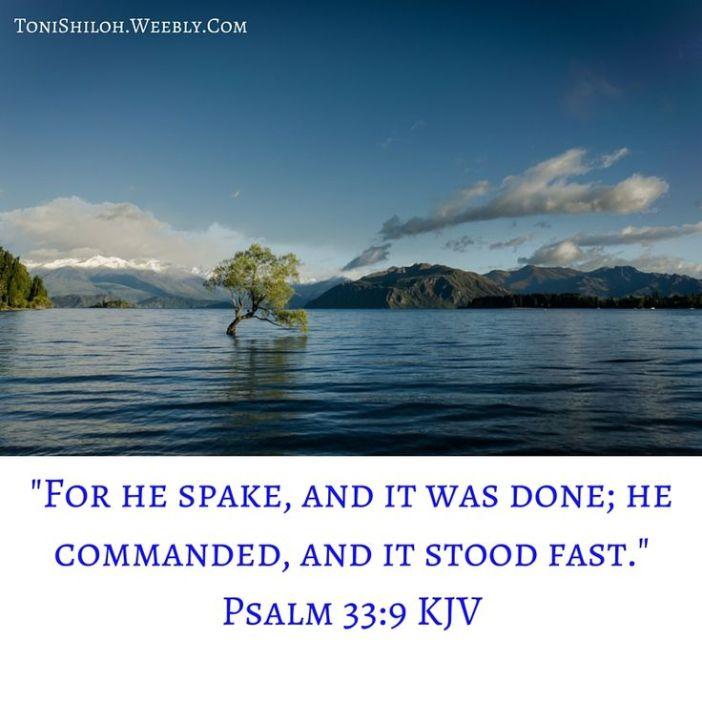 Psalm 33.9a