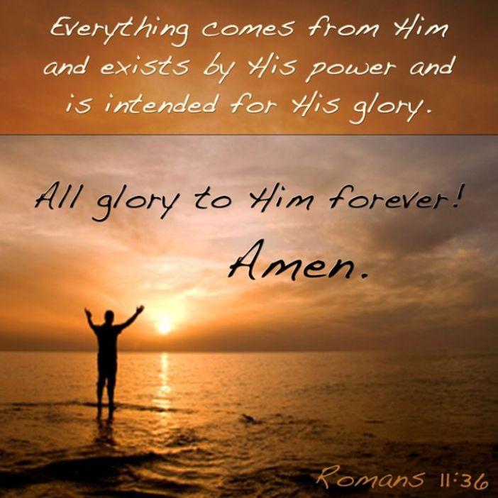 Romans 11.36
