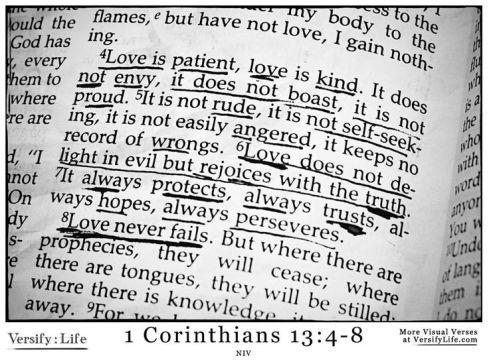 1 Cor 13.4-8a