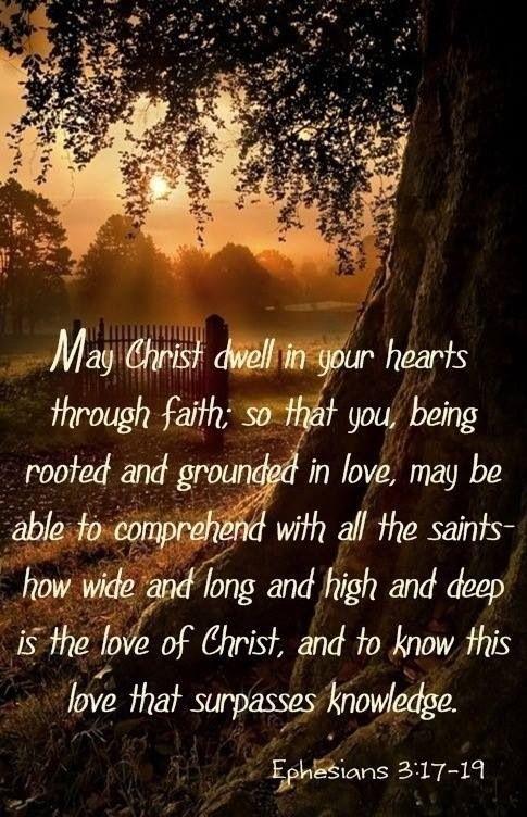 Ephesians 3.17-19