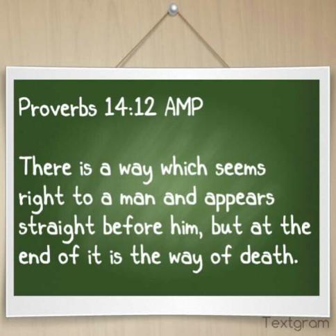 Proverbs 14.12