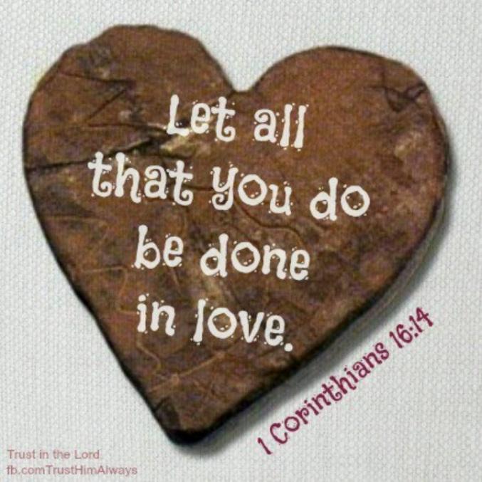 1 Corinthians 16.14