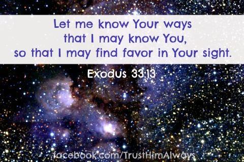 Exodus 33 verse 13