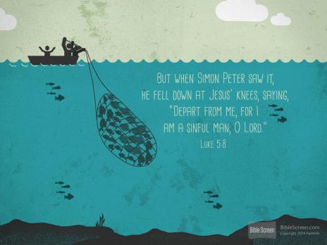 Luke 5.8