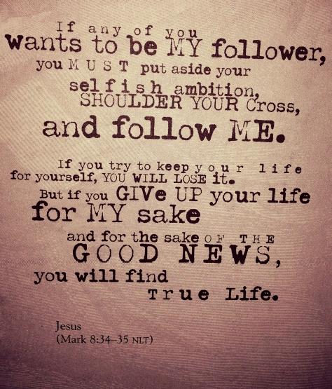 Mark 8.34-35