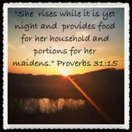 Proverbs 31.15