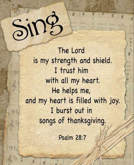 Psalm 28.7-8