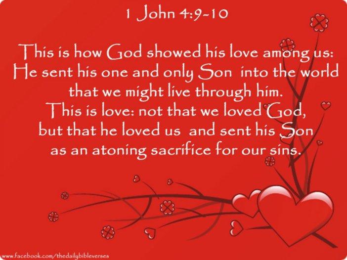 1 John 4.9-10