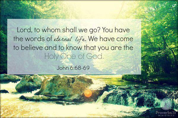 John 6.68-69