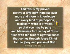 Philippians 1.9-11