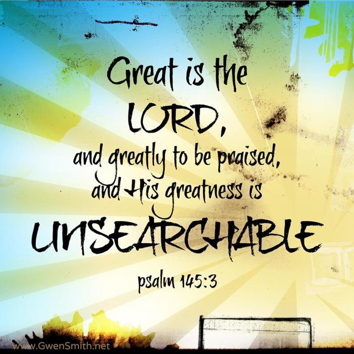 Psalm 145.3