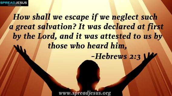 Hebrews 2.3