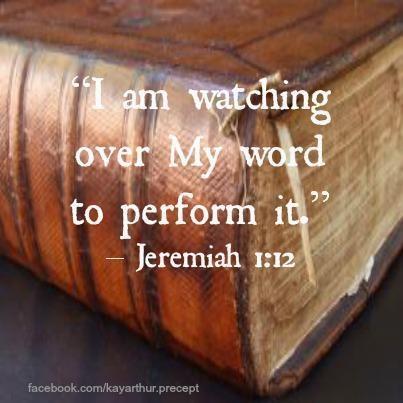 Jeremiah 1.12