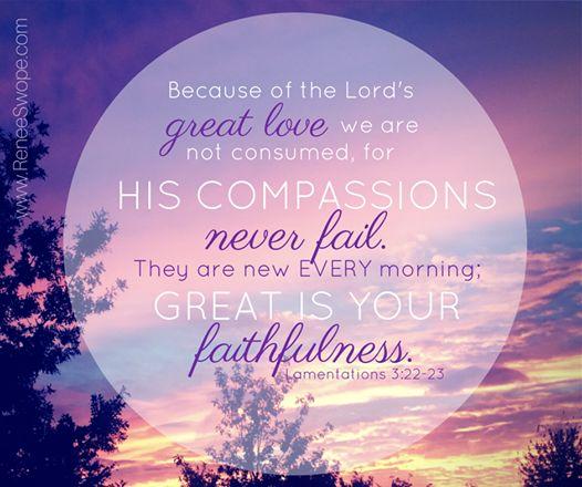 Lamentations 3.22-23