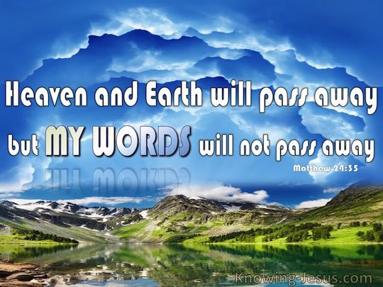 Matthew 24.35