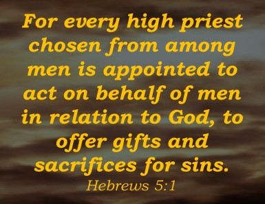 Hebrews 5.1