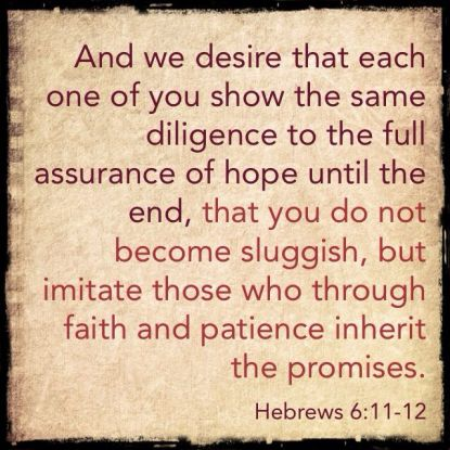 Hebrews 6.11-12