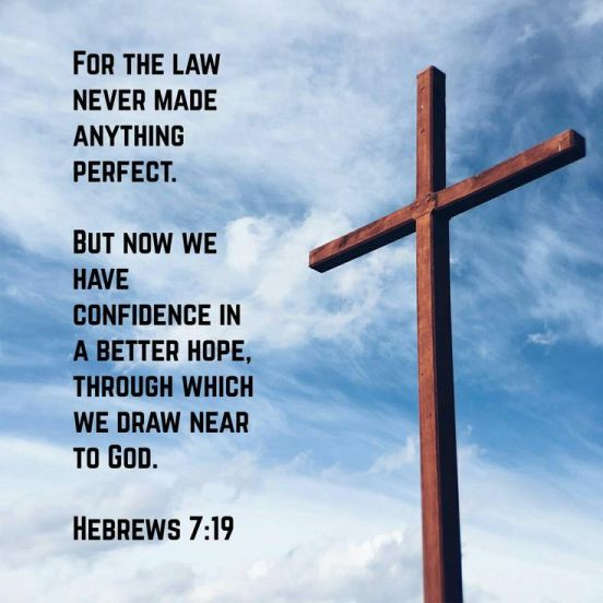 Hebrews 7.19