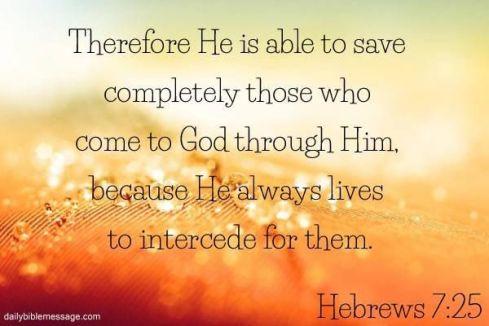 Hebrews 7.25b