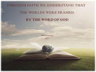 Hebrews 11.3