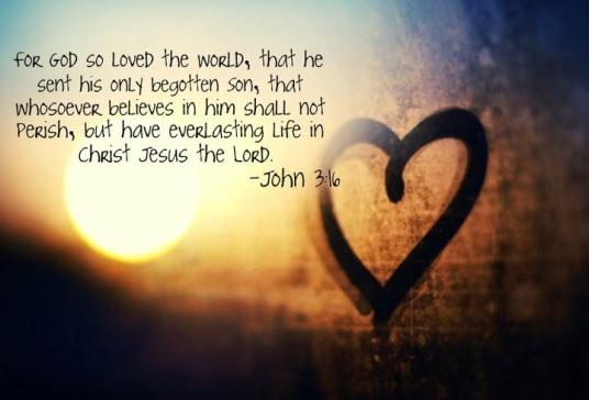 John 3.16a